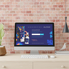 Mac Pro showing body cream  High Quality Landing Page Content Creation  Website ready for conversion  Creative Shark
