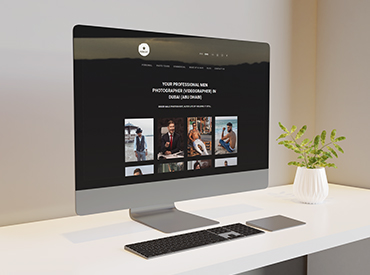 Mac Pro displaying SEO friendly Web Content for a photography studio  UK Native Writers  Planter  Creative Shark